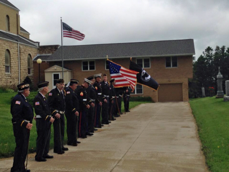 Bellechester American Legion Post 598 members, Bellechester, 2015