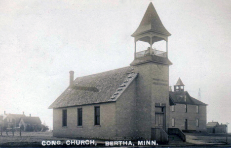 Congregational Church, Bertha Minnesota, 1910's