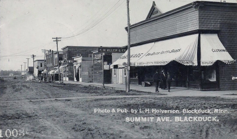 Summit Avenue, Blackduck Minnesota, 1910