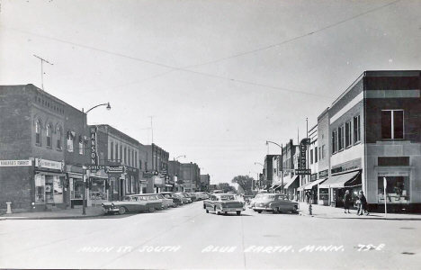 Main Street South, Blue Earth Minnesota, 1950's