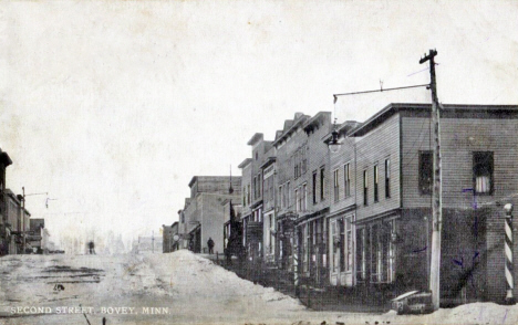 Second Street Bovey Minnesota, 1910's