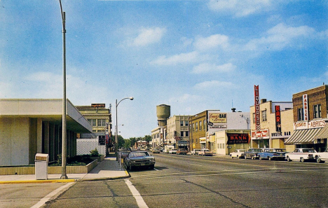 6th Street looking North from Maple Street, Brainerd Minnesota, 1960's