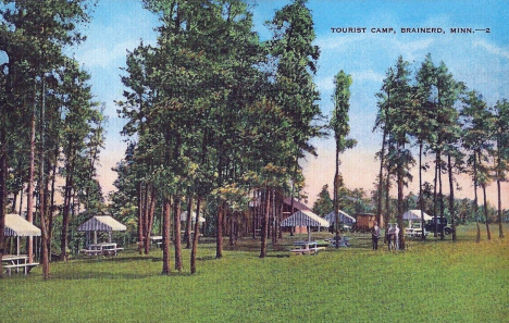 Tourist Camp, Brainerd Minnesota, 1940's