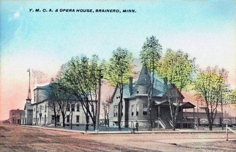 YMCA and Opera House, Brainerd Minnesota, 1909