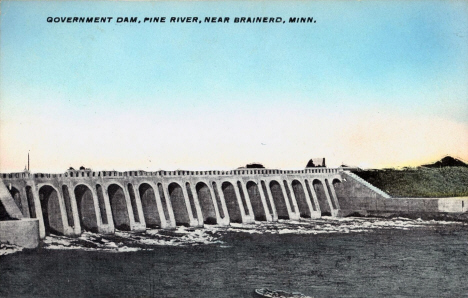 Government Dam, Pine River near Brainerd Minnesota, 1910