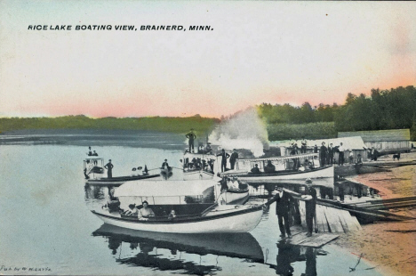 Rice Lake Boat Landing, Brainerd Minnesota, 1910's