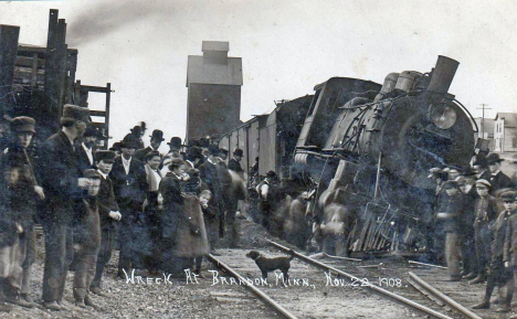 Train wreck at Brandon Minnesota, 1908