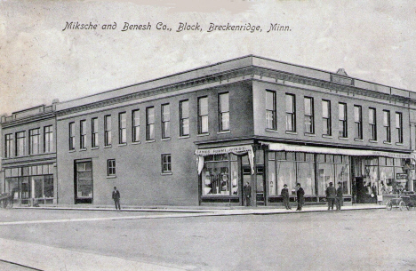Miksche and Benesh Co. Block, Breckenridge, Minnesota, 1913
