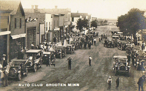 Auto Club, Brooten Minnesota, 1910's