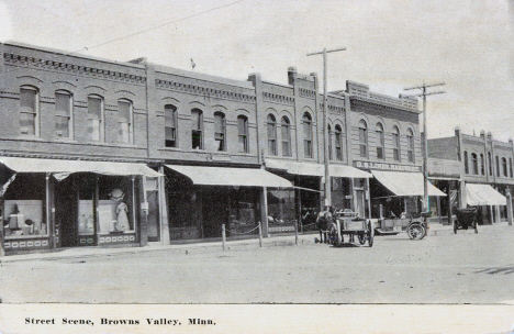 Street scene, Browns Valley Minnesota, 1908