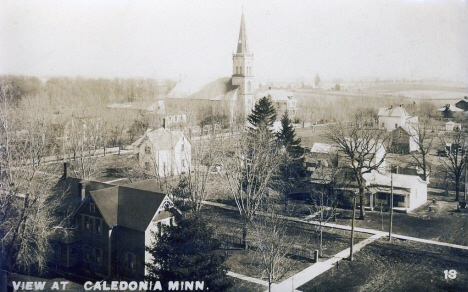 Birds eye view, Caledonia Minnesota, 1909