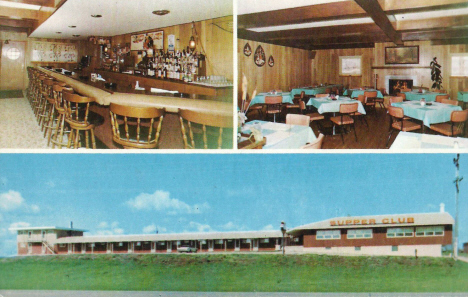 The Crest Motel and Supper Club, Caledonia Minnesota, 1960's