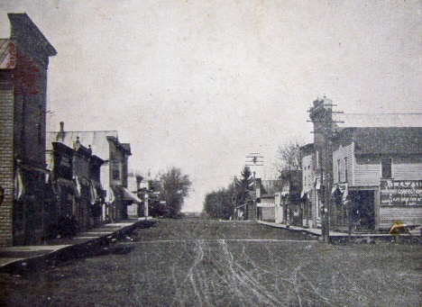 View from Lower Main Street, Canton Minnesota, 1907