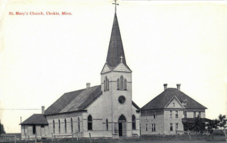St. Mary's Church, Chokio Minnesota, 1910's