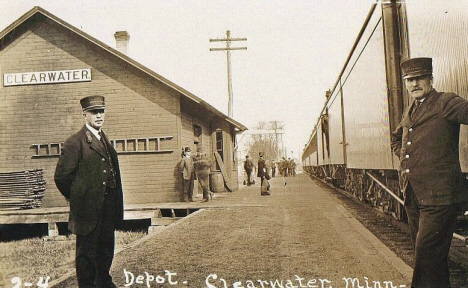 Depot, Clearwater Minnesota, 1910's
