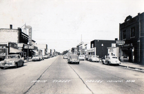 Main Street, Crosby Minnesota, 1950's