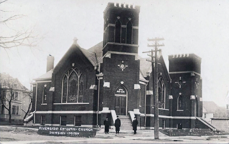 Riverside Evangelical Lutheran Church, Dawson Minnesota, 1920's