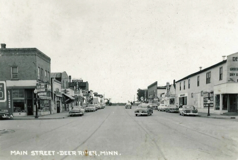 Main Street, Deer River Minnesota, 1950's