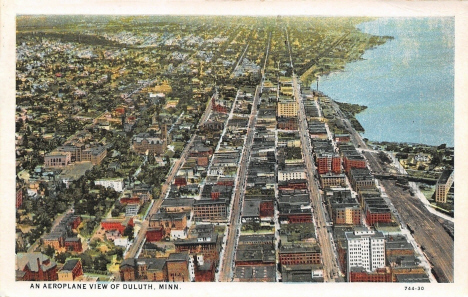 Aerial view, Duluth Minnesota, 1930