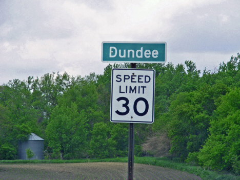 Road sign, Dundee Minnesota, 2014