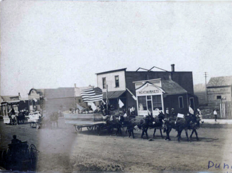 Fourth of July Parade, Dundee Minnesota, 1890's
