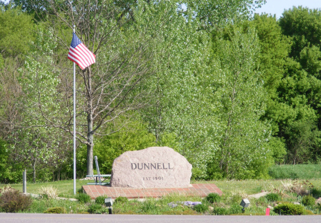 Marker on State Highway 4, Dunnell Minnesota, 2014