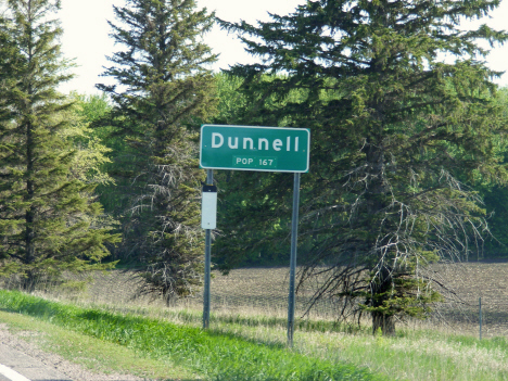 Population sign, Dunnell Minnesota, 2014