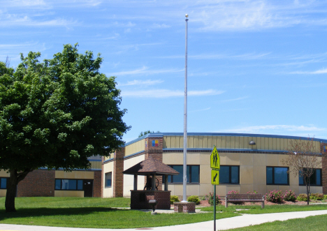 Flag pole and bell from old Eagle Lake School, 2014