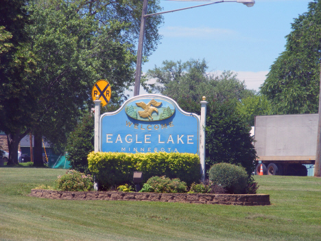 Welcome sign, Eagle Lake Minnesota