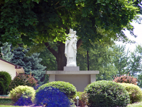 Statue at Our Lady of Mt. Carmel Catholic Church, Easton Minnesota, 2014