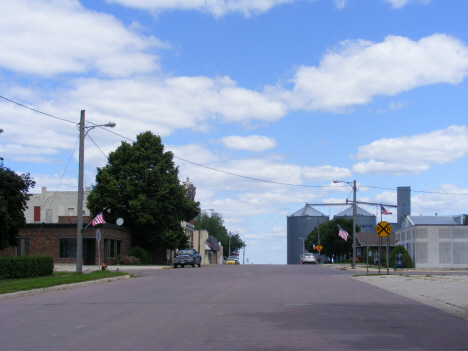 Street scene, Easton Minnesota, 2014