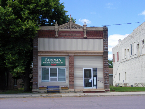 Former bank now Loonan Insurance Agency, Easton Minnesota, 2014