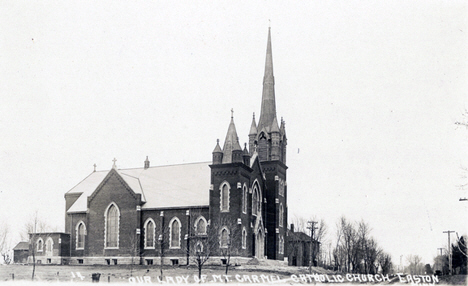 Our Lady of Mount Carmel Catholic Church at Easton Minnesota, 1915