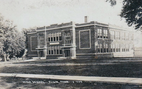 High School, Elgin Minnesota, 1940's