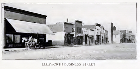 Business Street, Ellsworth Minnesota, 1908