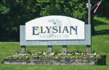 Highway sign, Elysian Minnesota