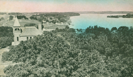 View of Lake Francis from the Water Tower, Elysian Minnesota, 1910