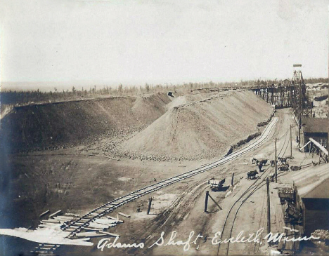 Adams Shaft, Eveleth Minnesota, 1908