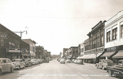 Central Avenue looking south, Faribault Minnesota, 1950's