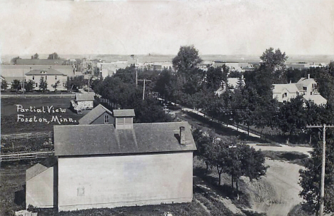Partial view, Fosston Minnesota, 1916