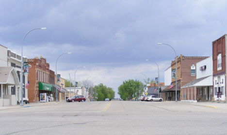 Street scene, Downtown area, Fulda Minnesota, 2014