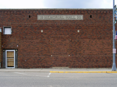 Former Memorial Hall, Fulda Minnesota, 2014