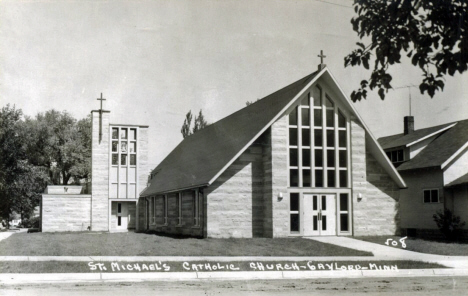 St. Michael's Catholic Church, Gaylord Minnesota, 1960's