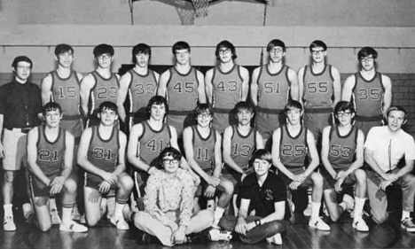 Basketball Team, Gaylord Minnesota, 1973