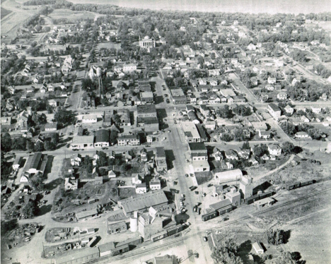 Aerial view, Gaylord Minnesota, 1953
