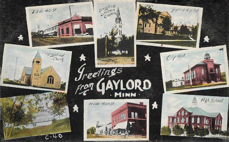 Multiple views, Gaylord Minnesota, 1909