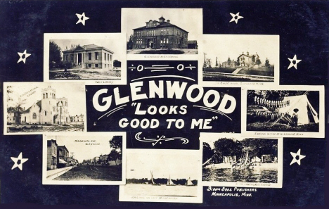 Multiple scenes, Glenwood Minnesota, 1909