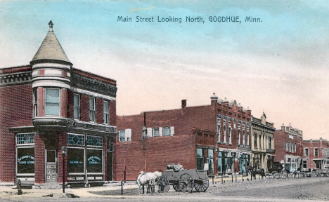 Main Street looking north, Goodhue Minnesota, 1909