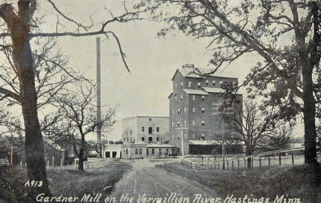 Gardner Mill on the Vermillion, Hastings Minnesota, 1911