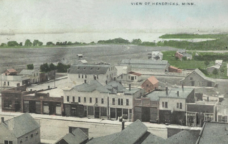 Birds eye view, Hendricks Minnesota, 1908
